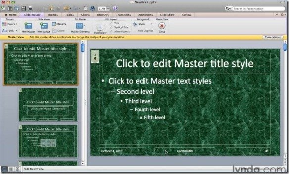 PowerPoint for Mac 2011 Formatting Text