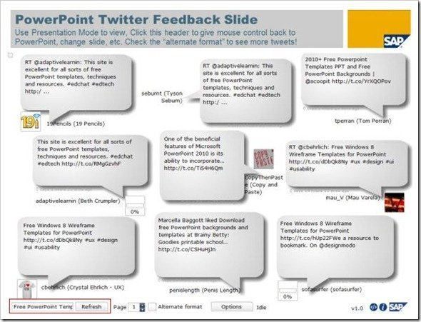 Powerpoint Twitter Tools Slideshowg Fppt