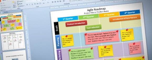 agile roadmap powerpoint