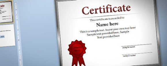 Free Certificate Template For PowerPoint - Awesome word 2013 certificate template design