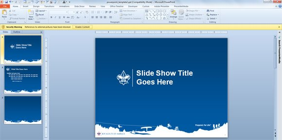 boy scouts have their own powerpoint template designs, Modern powerpoint