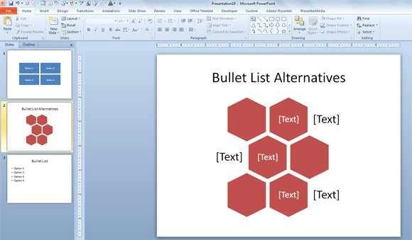 no bullet points template for powerpoint