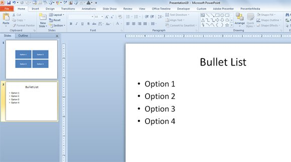 bullet lists powerpoint