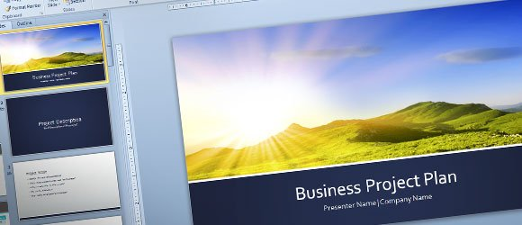Free Business Project Plan Template for PowerPoint 2013