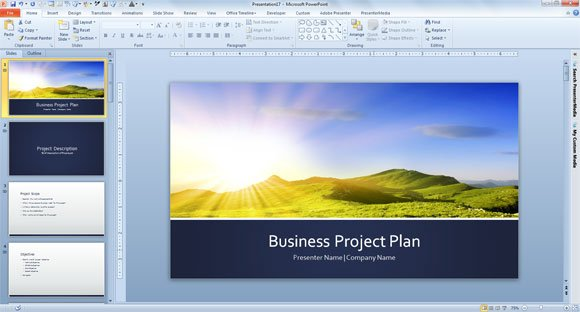 Free business plan template for powerpoint 2013 project plan template wajeb Images