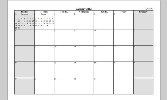 Your Free Calendar  Template In Powerpoint
