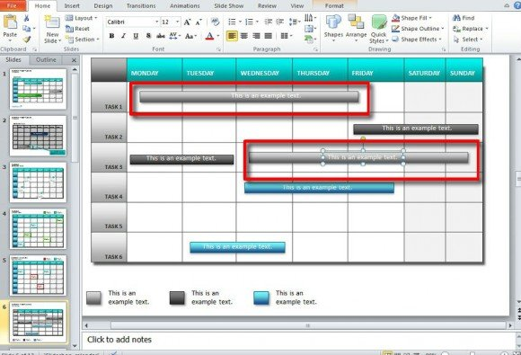 how to use a template in powerpoint - how to make a calendar in powerpoint 2010 using shapes and