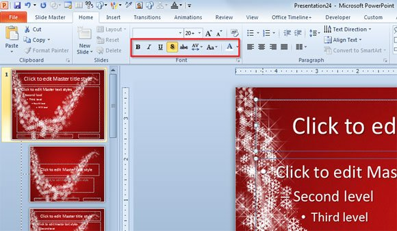 How to make an original christmas powerpoint template for free download free christmas pptx toneelgroepblik Gallery