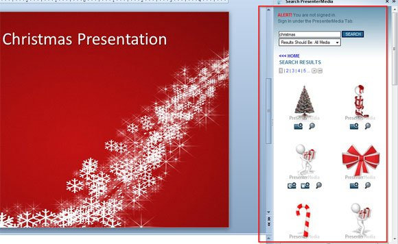 animated cliparts for christmas powerpoint presentations