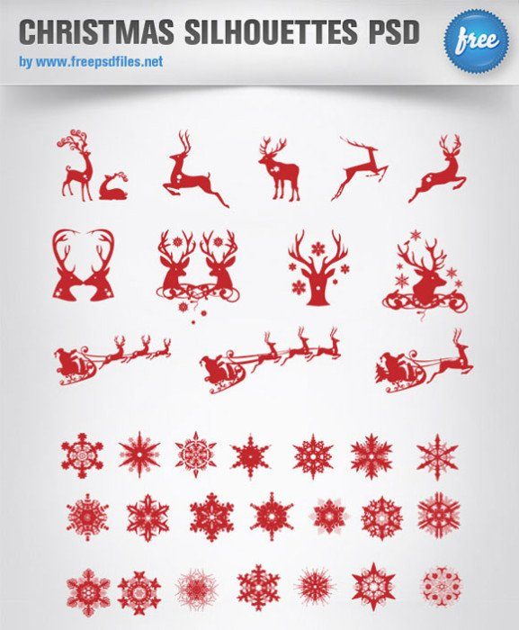Christmas silhouette psd template for holiday powerpoint presentations christmas icons toneelgroepblik Choice Image