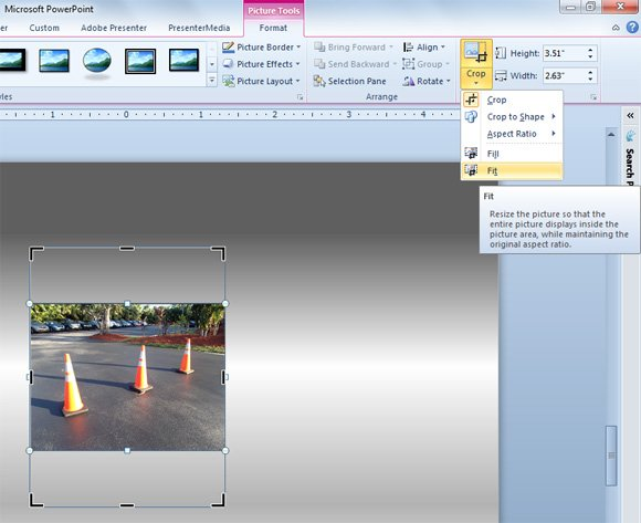 crop powerpoint images