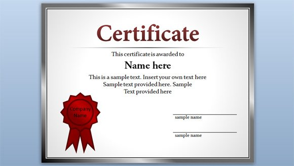 Online Certificates Templates Free Certificate Template For Powerpoint 2010 & 2013