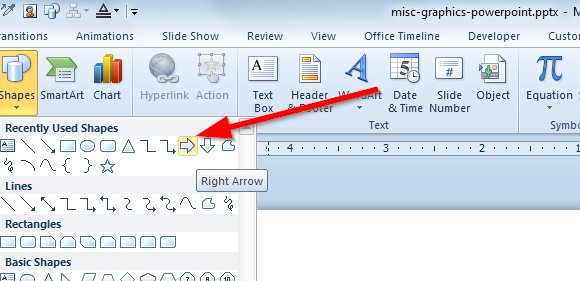 how to draw a fat arrow in powerpoint using shapes, Powerpoint templates