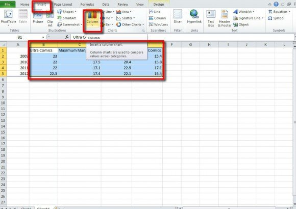 Make a chart in powerpoint and excel excel chart ppt template ccuart Image collections