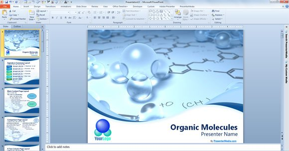 Free scientific powerpoint template free scientific powerpoint template with 3d bubbles toneelgroepblik Image collections