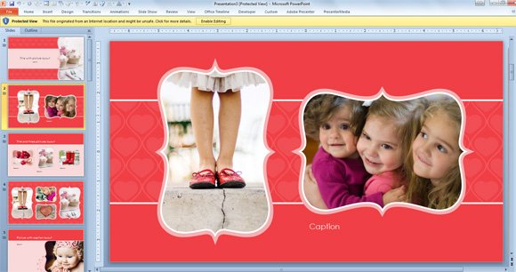 Good Free Widescreen Valentineu0027s Day PowerPoint Template Idea Free Album Templates