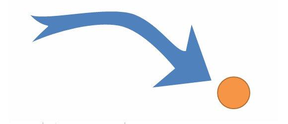 arrow powerpoint curved