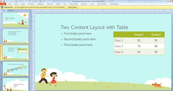 Free children powerpoint template with cartoons for powerpoint 2013 children powerpoint toneelgroepblik Images