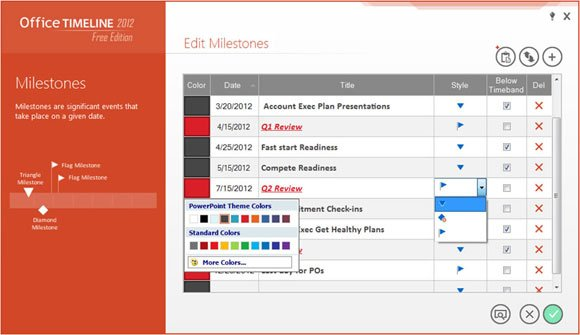 office timeline powerpoint creator
