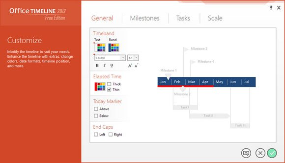 Create timelines in powerpoint 2013 using office timeline add in timeline color theme toneelgroepblik Choice Image