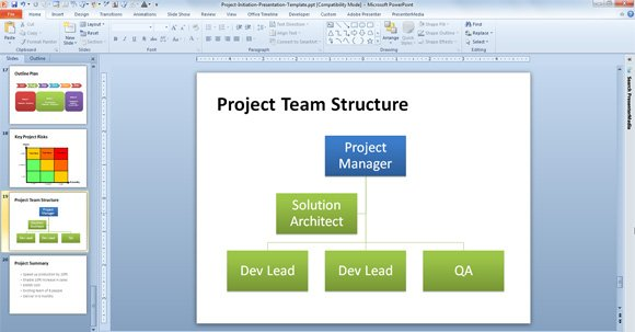 Free agile project planning template for powerpoint for Power point org chart template
