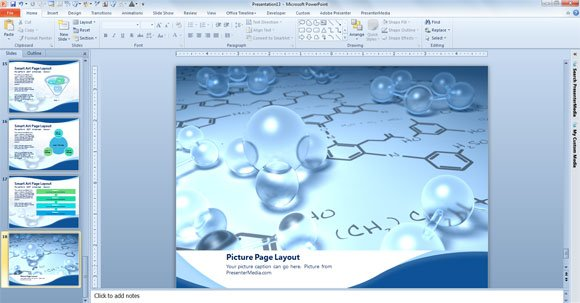 Free scientific powerpoint template picture page layout sample toneelgroepblik Gallery
