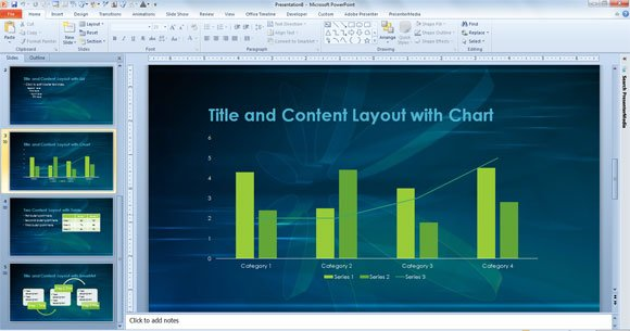 powerpoint template for scientific presentations and academic projects, Powerpoint templates