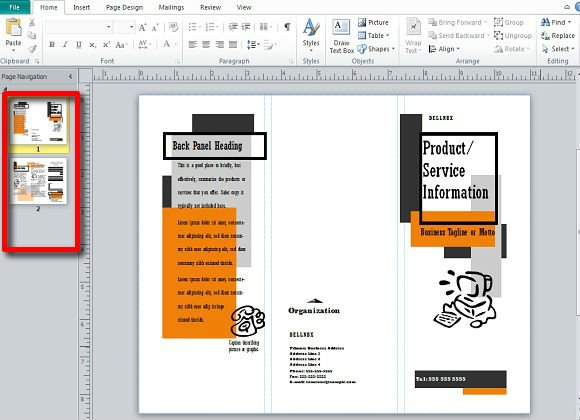Making And Publishing Brochures With Publisher - Microsoft publisher brochure templates