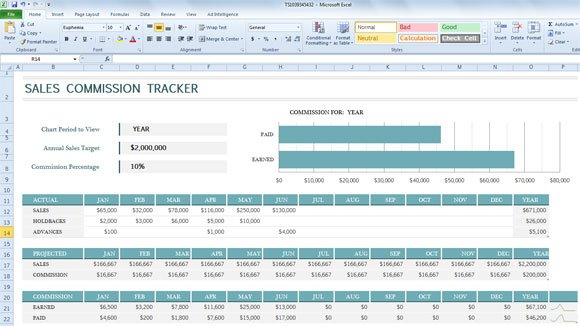 Sales commission tracker template for excel 2013 for Sales commision structure template