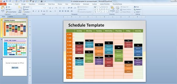 Free editable schedule template for powerpoint schedule powerpoint template toneelgroepblik Choice Image
