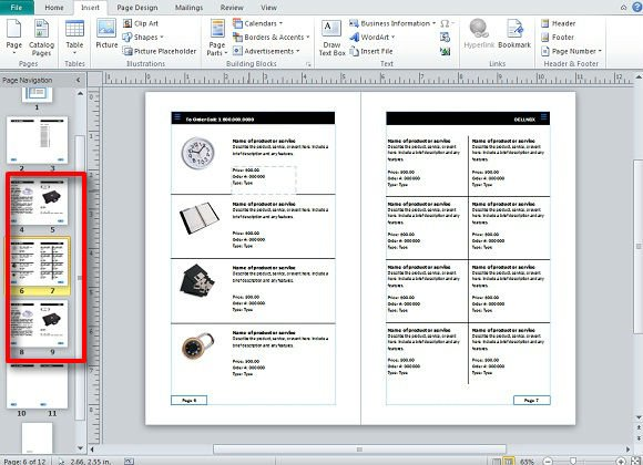 Creating and publishing catalogs for your business using for Microsoft word catalog template