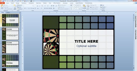 animated darts template for powerpoint 2010, Powerpoint templates