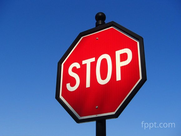 free stop sign image