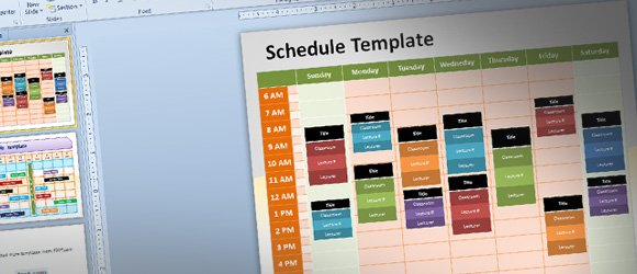 free editable schedule template for powerpoint