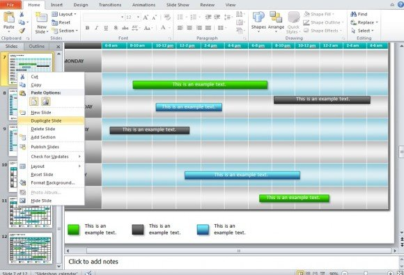 how to make a calendar in powerpoint 2010 using shapes and tables, Modern powerpoint