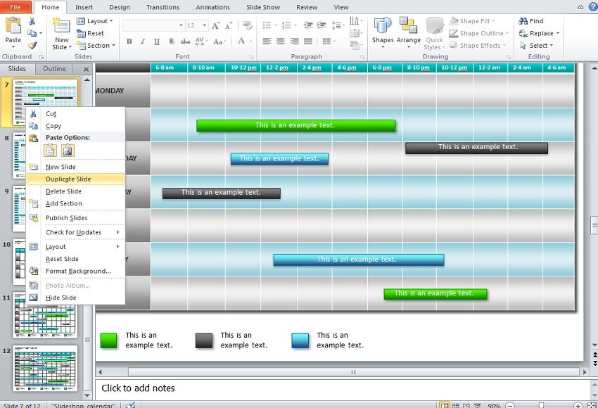 How To Make A Calendar In Powerpoint 2010 Using Shapes And Tables