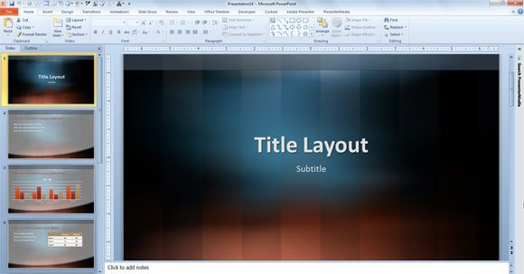 free vertical lexicon design template for powerpoint 2013