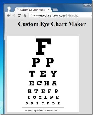 Digital Eye Chart Generators For Testing Visual Acuity