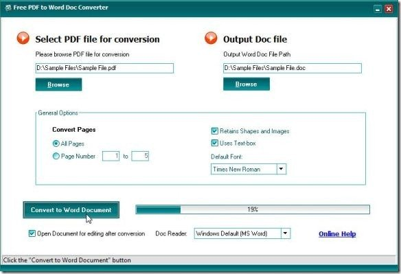 how to convert a word document to a pdf for free