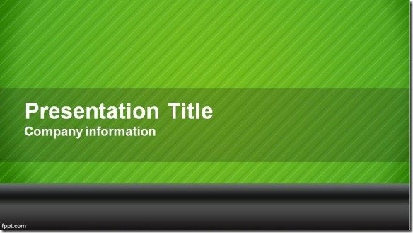 green widescreen powerpoint template jpg fppt