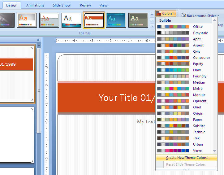 powerpoint on theme