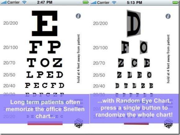 Random Eye Chart Generator For Iphoneg Fppt