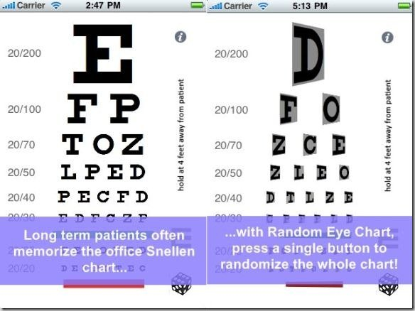 Random Eye Chart Generator For iPhone