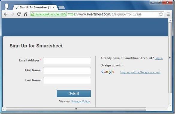 Sign Up for Smartsheet  Smartsheet