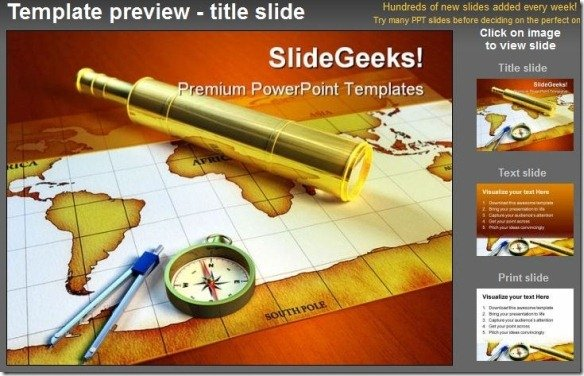 SlideGeeks Explorer Tools Globe PowerPoint Template