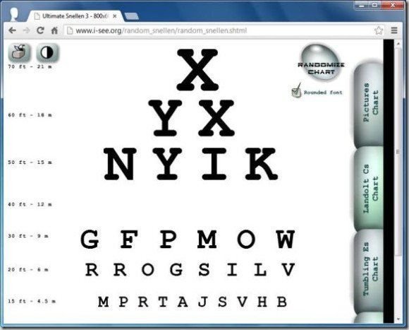 Snellen Eye Chart Generatorg Fppt
