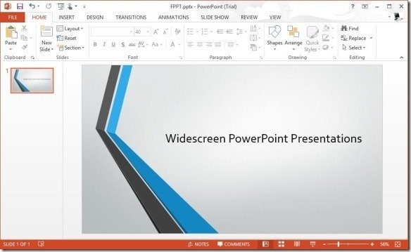 you can now make amazing widescreen presentations using
