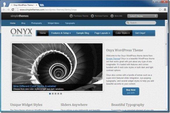 WordPress Theme Live Demo
