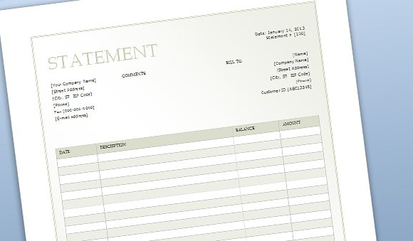 invoice statement template free