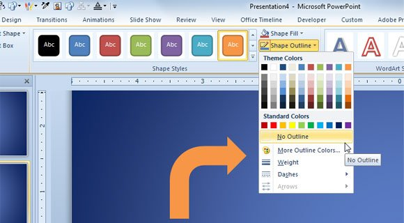 how to make a branched arrow shape in powerpoint 2010, Powerpoint templates